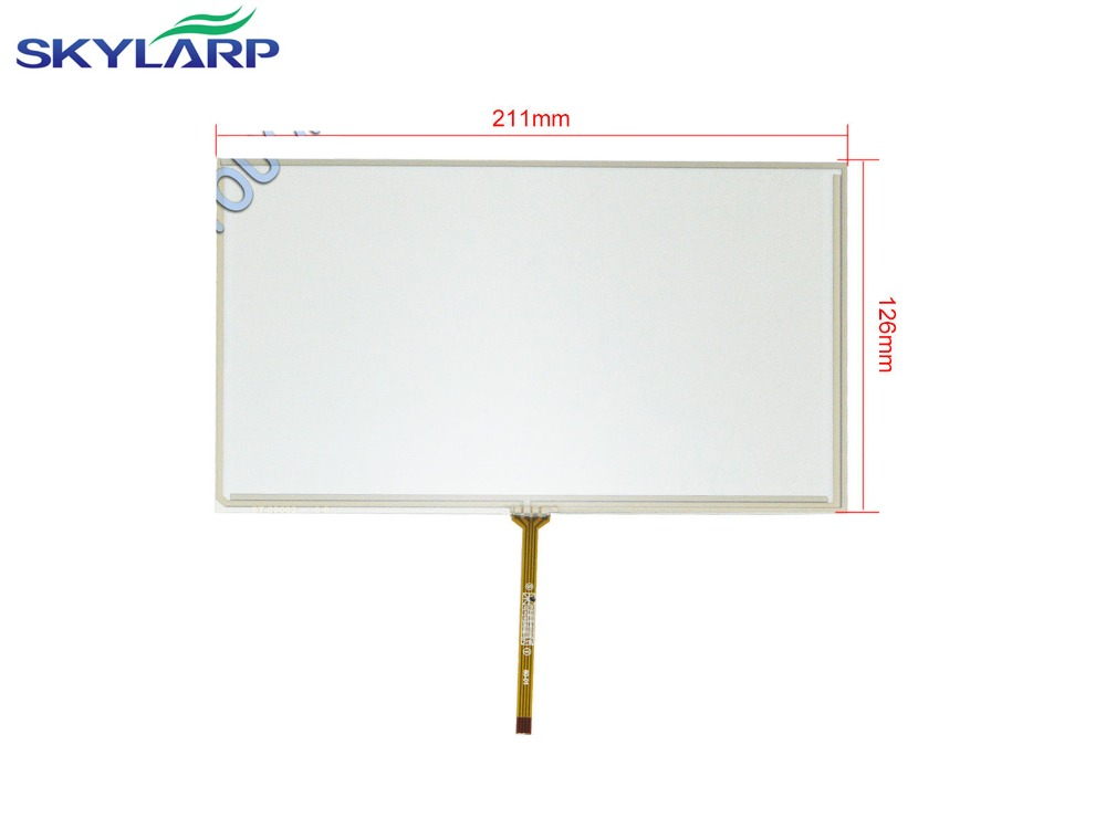 NEW 9 inch 4 Wire Resistive Touch Screen Panel Digitizer for HSD090IDW1 TFT 211x126mm touch panel Glass Free shipping