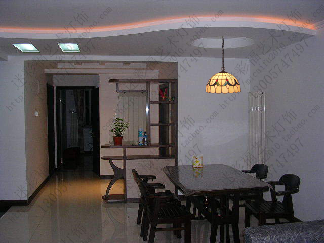 14inch Tiffany Baroque Stained Glass Suspended Luminaire E27 110 240V Chain Pendant lights for Home Parlor Dining Room - 5
