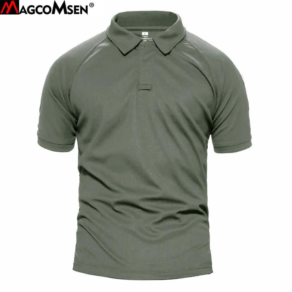9119cf1459b6 MAGCOMSEN Men t-shirt Summer Short Sleeve T-shirts Military Breathable  Quick Dry Tactical