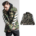 Off White Jacket Men Autumn Winter Camouflage White Stripe Hip Hop Camouflage Coat Off White Jackets