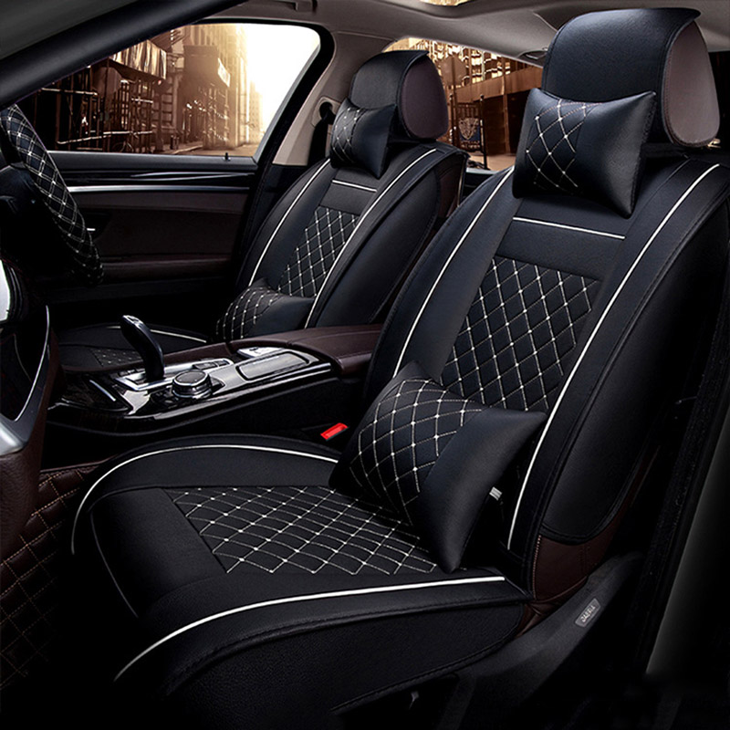 Universal PU Leather car seat covers For Volvo S60L V40 V60 S60 XC60 XC90 XC60 C70 s80 s40 auto accessories car styling 3D Black