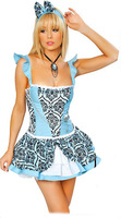 Women Angel Costume Skyblue Printing Adult Party Circus Sexy Halloween Costumes Hot Selling