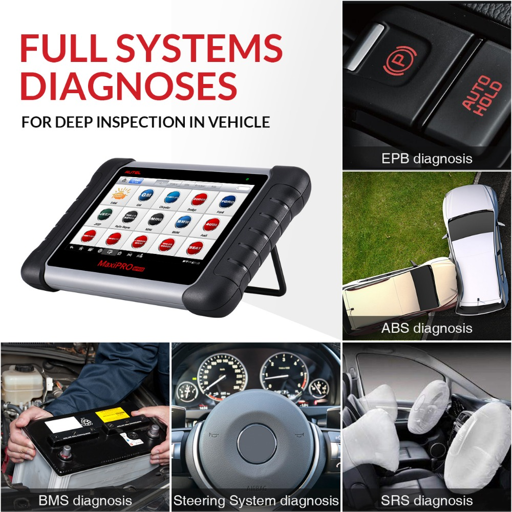 Image 4 - Autel MaxiPRO MP808 Car Diagnostic Scanner All System Auto Diagnostics Scan Tool Automotive Diagnosis Autoscanner PK DS808 MS906-in Engine Analyzer from Automobiles & Motorcycles