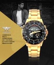 2016 Новый Оригинальный Бренд AMST Военные Часы мужская СВЕТОДИОДНЫЕ Цифровые Кварцевые Часы Полный Стали Мужчины Армия Наручные Часы Relógio Masculino