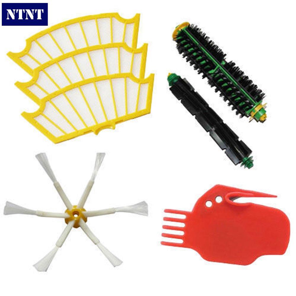 NTNT Free Post NEW Brush 6 armed and Filter Set For iRobot Roomba 530 550 560 570 580 ntnt free shipping new 3 6 brush
