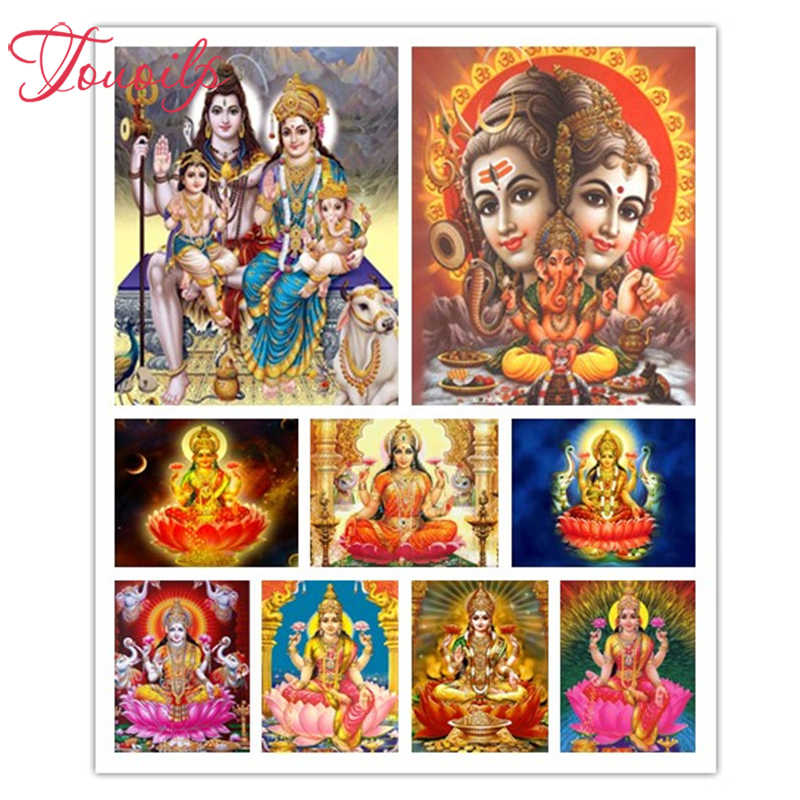 TOUOILP 5D DIY 5d Lakshmi Diamant Malerei Volle 5d Diamant Stickerei Verkauf Kreuz Stich Kit Strass Mosaik Garten Decor