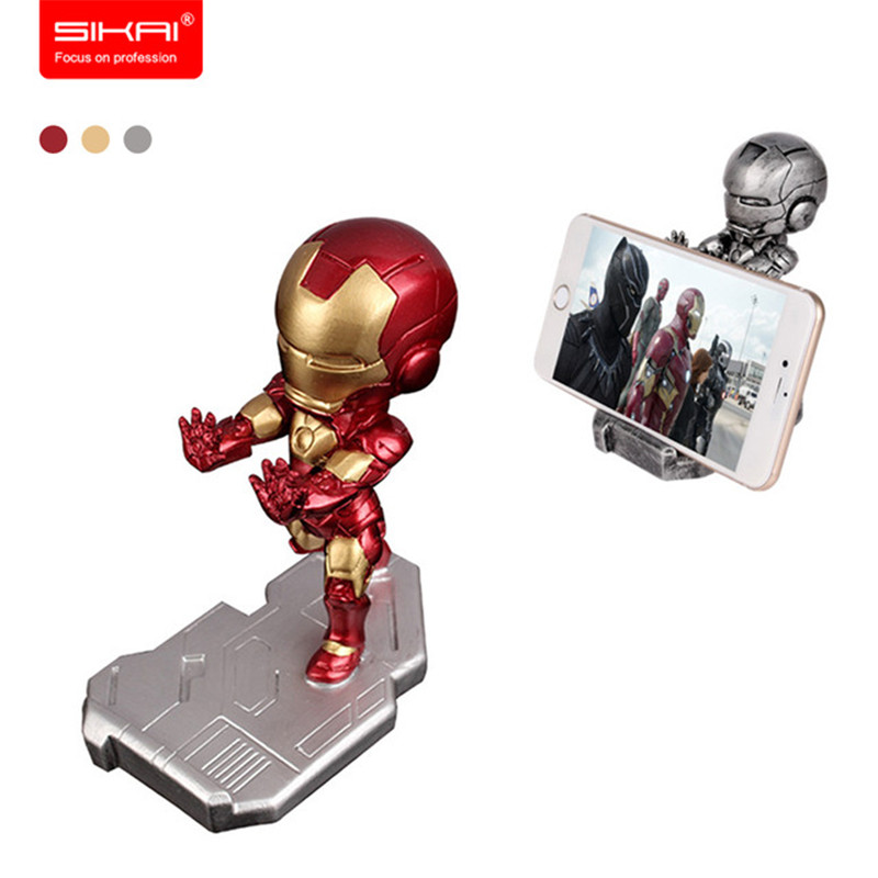SIKAI 3D GK Design Acrylic Resin Mobile Phone Stand Car Cellphone Holder For IPhone For Samsung