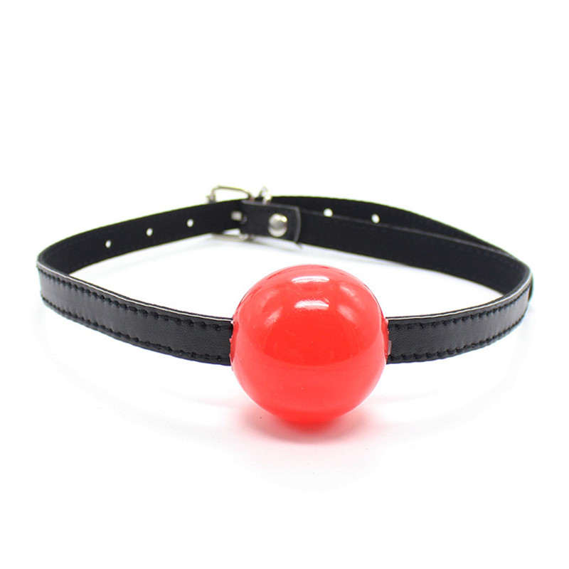 Gag Of BDSM Toys For Adults Leather Erotic Toys Silicone Ball Open Mouth Gag Sex Toys Slave For Sex Bondage Exotic Accessories