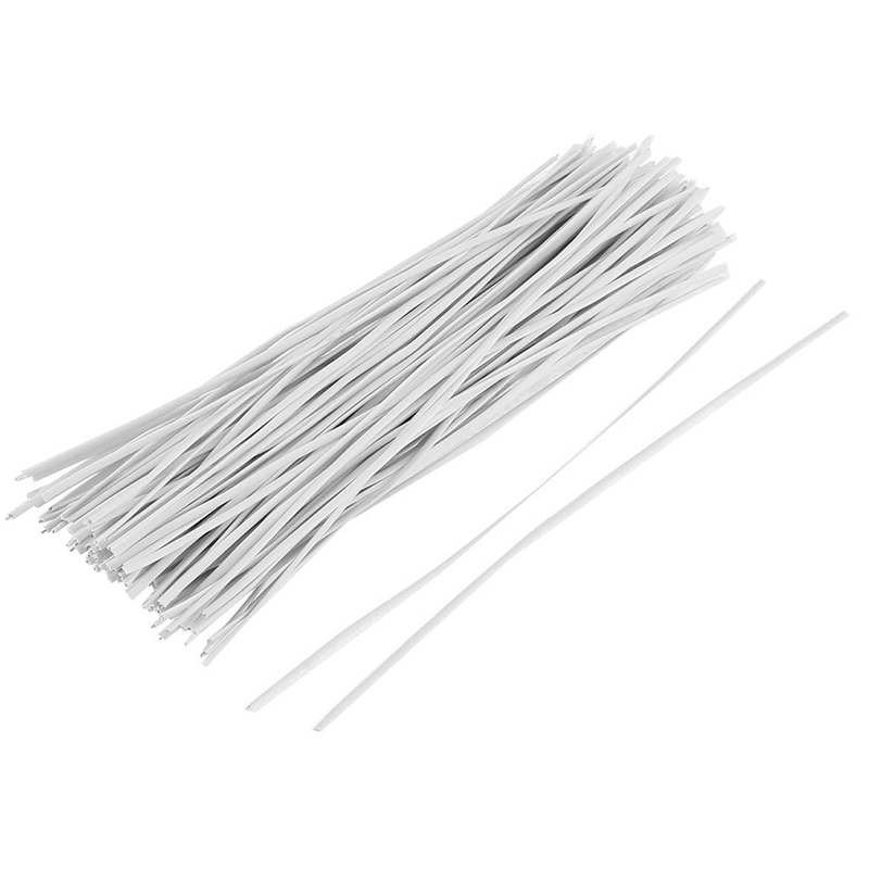 130pcs Cable Organizer Binding Packaging Wire Twist Ties White 150x2 ...
