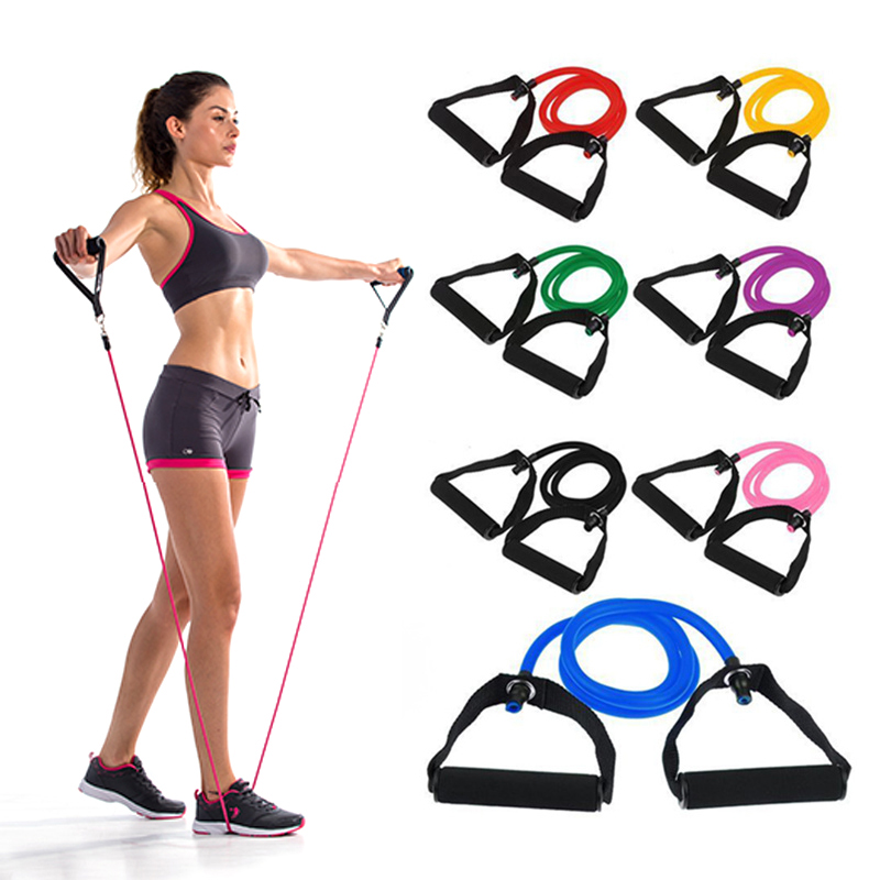 Fitness Elastic Resistance Bands Resistance Pull Rope Exercise Tubes Elastic Workout Bands for Yoga Pilates Expander Elastic gymnastics adult latin training bands pilates yoga stretch resistance bands elastic workout fitness equipment training expander