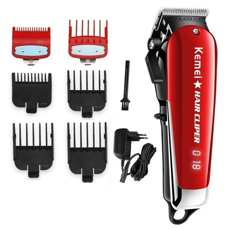 Sem fio máquina de cortar cabelo mágico profissional barbeiro aparador de cabelo homens elétrico barba cortador de cabelo máquina de corte de cabelo ajustável