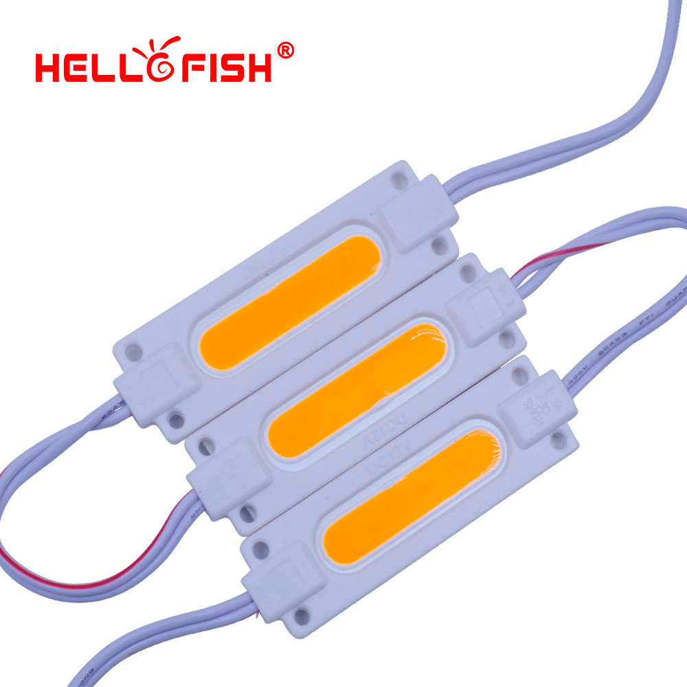 Hello Fish 20pcs DC12V COB LED Modules 7020 Advertising Modules Luminous Characters, Backlight Modules IP65 Waterproof
