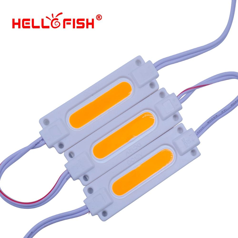 Olá peixes 20 pces dc12v cob módulos led 7020 módulos de publicidade caracteres luminosos, módulos de luz de fundo ip65 à prova dip65 água