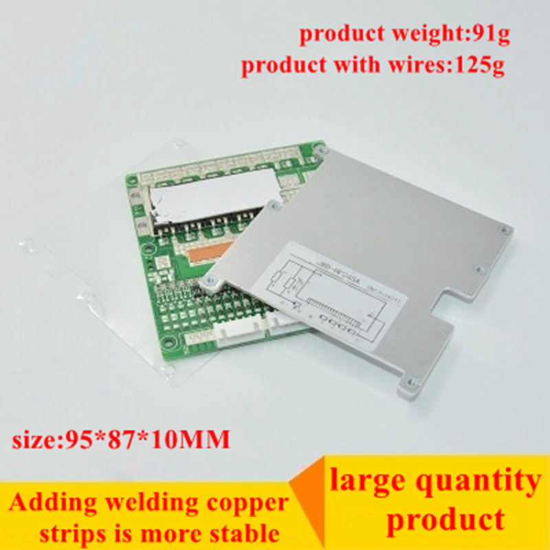 New arrival 17S 60V Lithium battery protection board 50A high current board Balanced light Same port BMS Power Battery in Switching Power Supply from Home Improvement