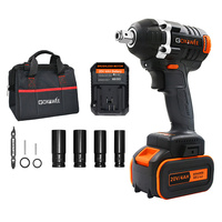 GOXAWEE Electric Wrench Impact Driver 20V Cordless Brushless Socket Wrench Rechargeable Li Battery Household Drill Power Tools