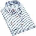 JeeToo мужские Рубашки Классический Плед Мужской Рубашки С Длинным Рукавом Повседневная Рубашка Мужчины Бизнес Slim Fit Рубашки Мужчины Clothing Camisa Masculina
