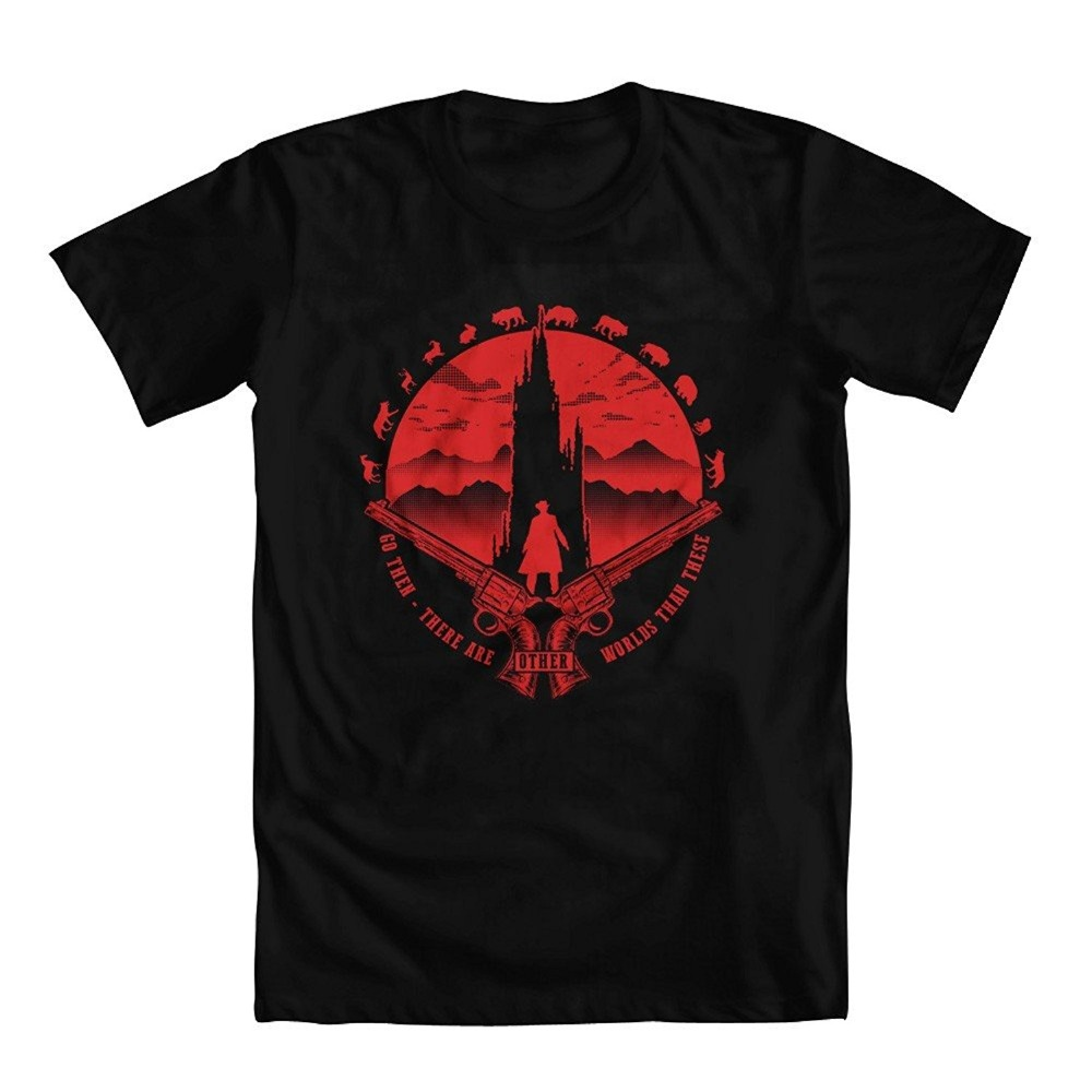 Casual T Shirt Male PatternStephen Kings Dark Tower Inspired Other Worlds Mens T-Shirt Short Sleeve Printed O-Neck Tee For Men