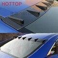 Aero asa de fibra de carbono janela indiscreta spoiler splitter para honda civic 2016 + estilo do carro do telhado