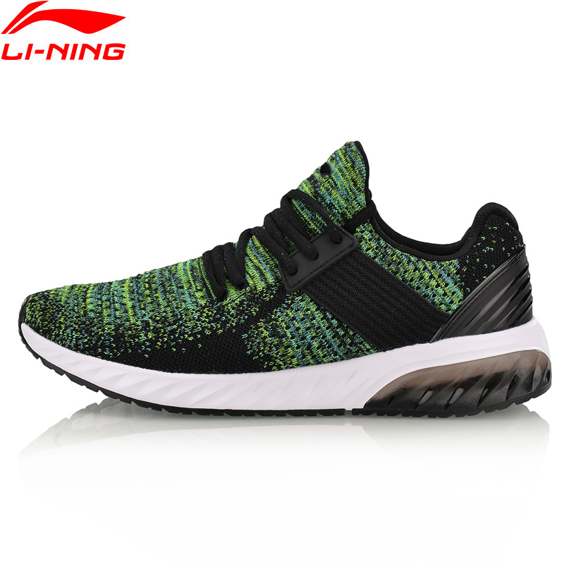 Li-Ning 2018 Men Shoes GEL KNIT Walking Shoes Mono Yarn Breathable Li Ning Sports Shoes Wearable Anti-Slippery Sneakers AGLN041 li ning women gel knit classic walking shoes wearable anti slippery sneakers mono yarn lining sports shoes agln044