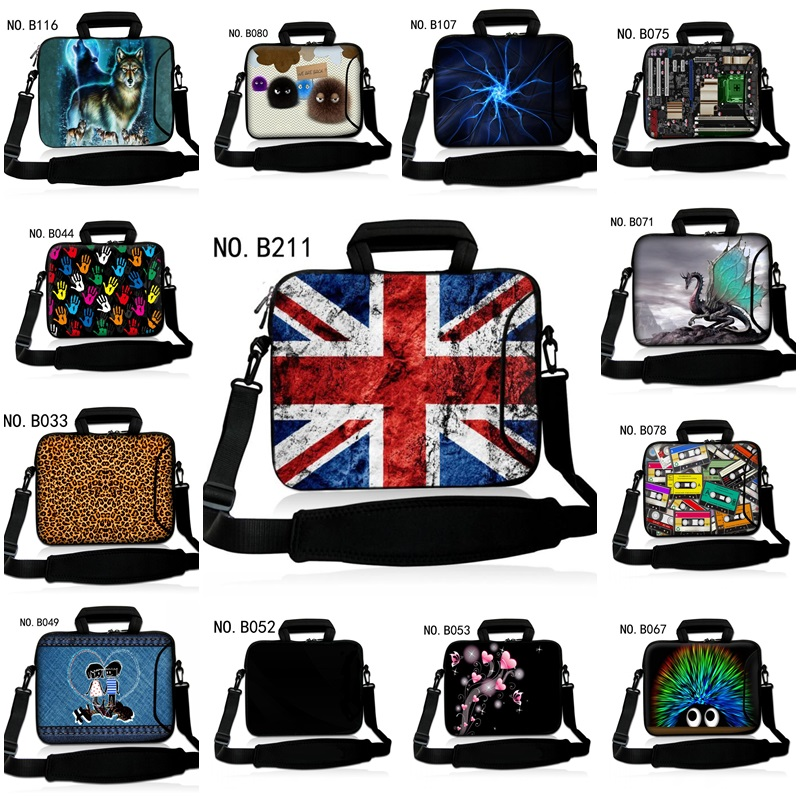 New Laptop Shoulder Bags 12 13 14 15 17 inch Tablet PC Bag Notebook Pouch Personalized Handles and outside pockets Design