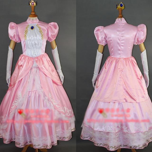 super smash bros wii u princess peach cosplay costume halloween uniform outfit full set custom