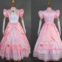 Super Smash Bros. Wii U Princess Peach Cosplay Costume Halloween Uniform Outfit Full Set Custom-made