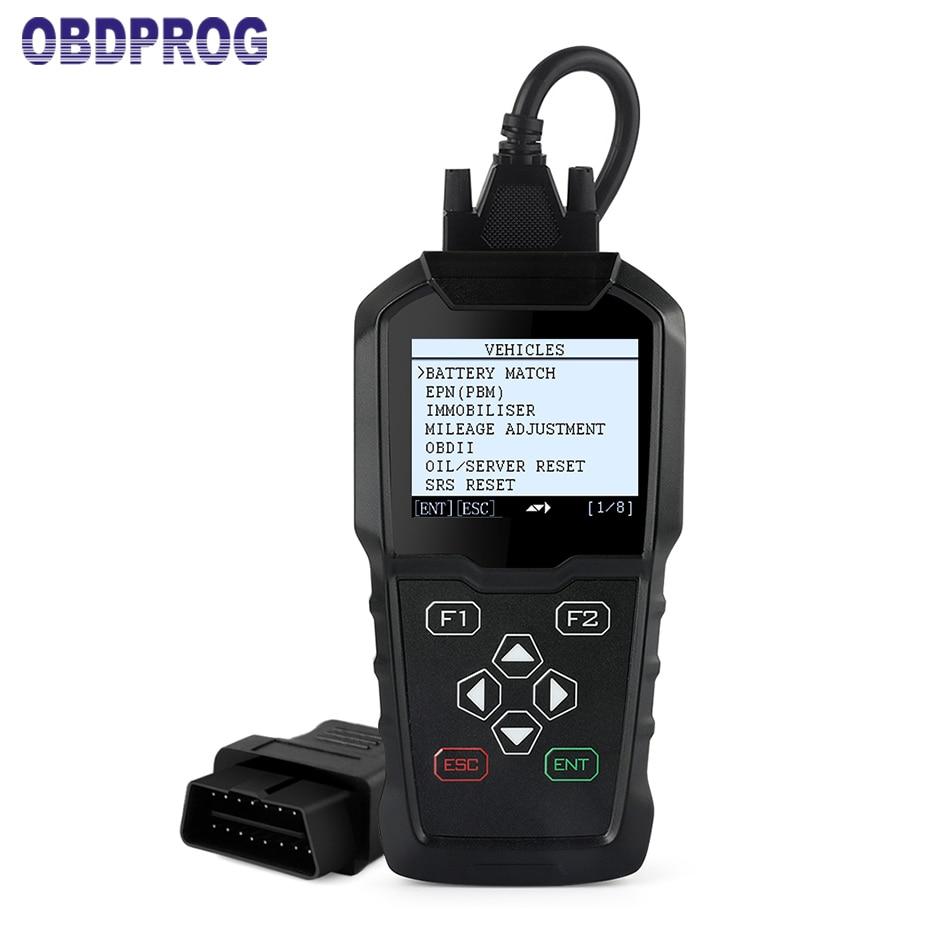 OBDPROG MT006 Program Professional OBD2 Key programmer immobilizer odometer correction Mileage Adjustment ODB2 Diagnostic Tool
