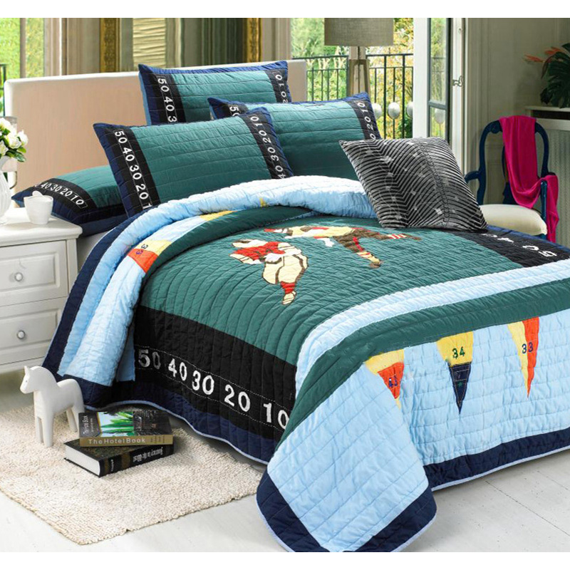 CHAUSUB Boys Handmade Quilt Set 2PCS Washed Cotton Quilts ... : handmade cotton quilts - Adamdwight.com