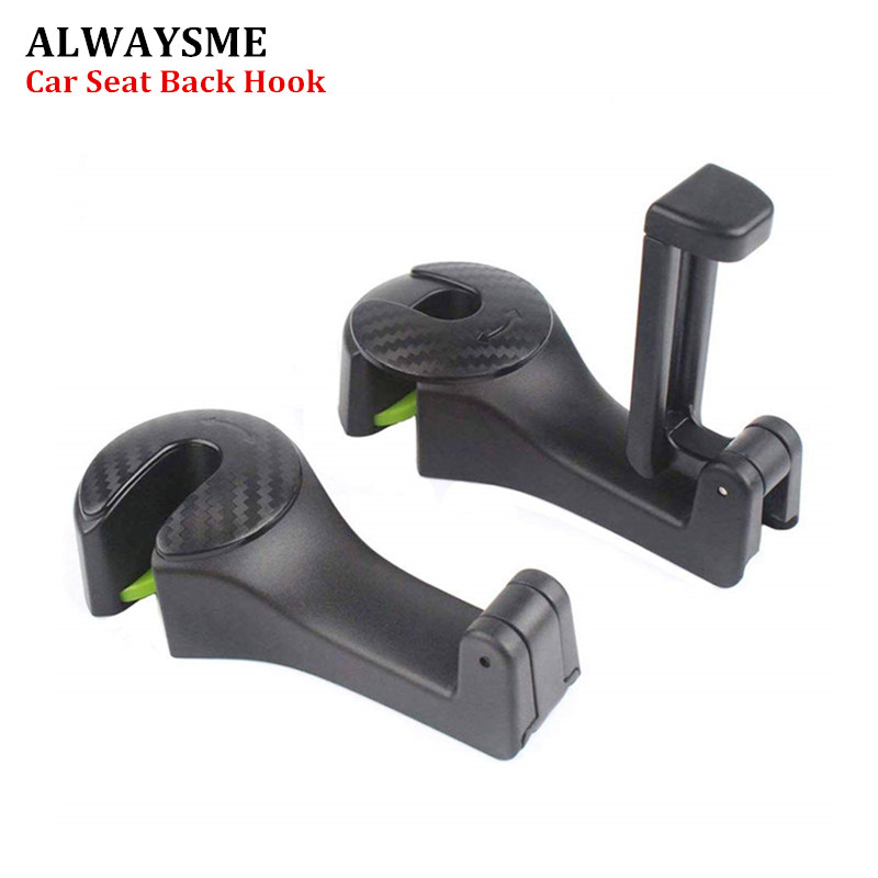 ALWAYSME Car Hooks Car Seat Back Hooks With Phone Holder Universal Vehicle For Car Headrest title=