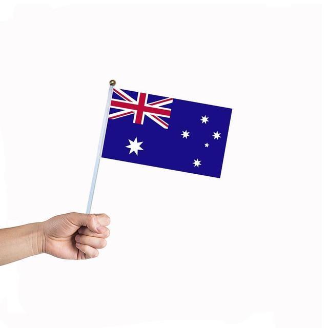 10pcs Set 1421cm Australian National Flag Hand Waving Australia Activity Parade Sports Home Decor AU Handheld Banners