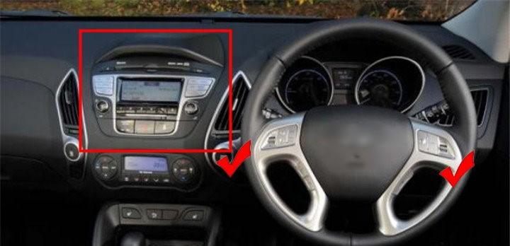 radio cd player Hyundai IX35 2010-6