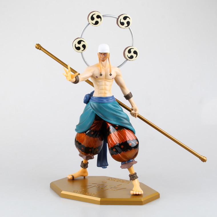 Anime Cartoon One Piece 31CM POP Enel PVC Action Figure Model Brinquedos Collection Toy overbearing arrogance law anime one piece pvc action figure classic collection model garage kit doll toy