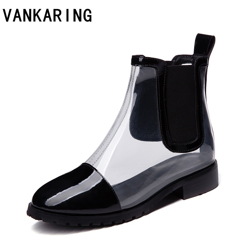 new model black white sneakers clear ankle summer time rain boots lady excessive heels pu leather-based spring booties platform sneakers lady Ankle Boots, Low cost Ankle Boots, new model...