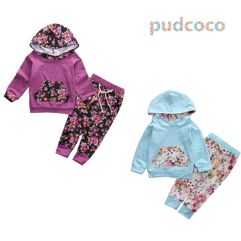 Toddler Infantil Kids Baby Girls Active Tracksuit Pullover Sweatshirt Hoodies+Pants 2PCS Outfits Set