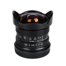 7 ремесленников 7.5 мм f/2.8 Широкий формат Камера рыбий глаз 180 градусов многослойным покрытием для Fujifilm x-t10 X-T2 x-pro2 X-E2 X-E1 X-M1 x-a2