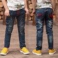 Nueva moda primavera otoño e invierno niños chicos pantalones vaqueros bebé pantalones niños pantalones de mezclilla ropa de las muchachas pantalones tamaño : 3-14 años de edad