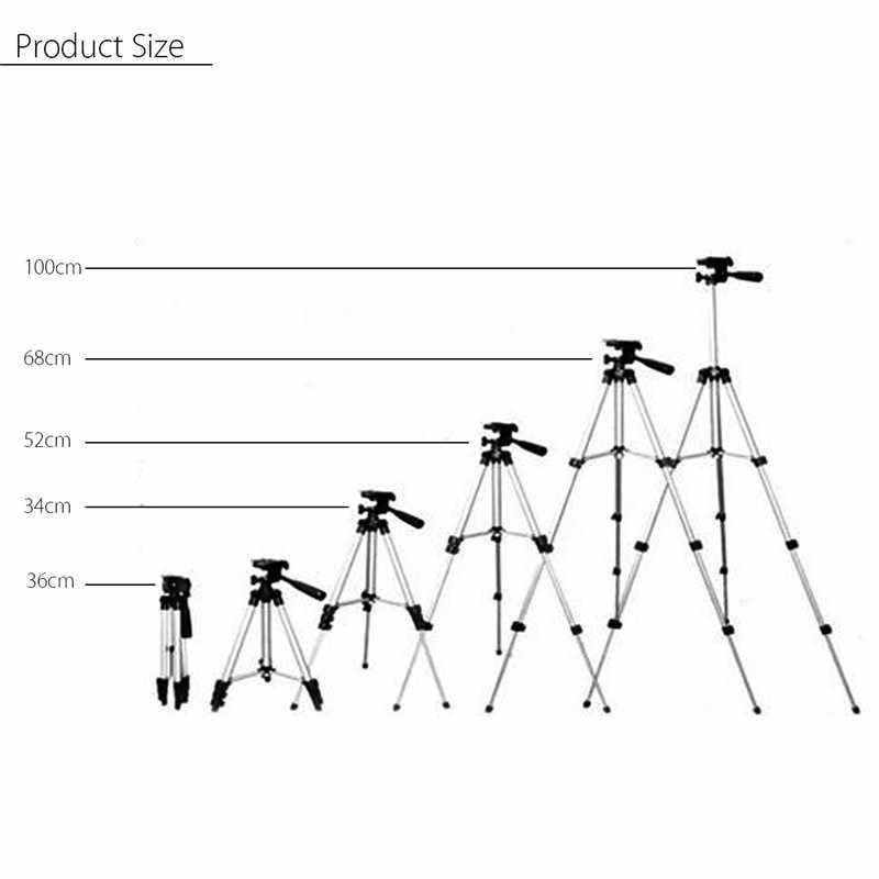 36-100 centímetros Tripé De Alumínio Ajustável Suporte de Montagem Titular Clipe Set Para Câmera de Telefone Celular para o iphone XR XS para Samsung S10 S10E