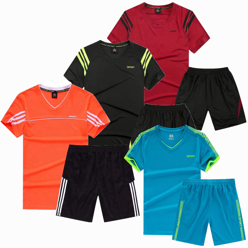 Working Set Males T Shirt Shorts Soccer Soccer Basketball Jersey Sport Put on Swimsuit Sportswear Tracksuits Health Health club Clothes 5XL Working Units, Low cost Working Units, Working Set...