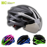 Basecamp 2018 Cycling Helmet Integrally Molde Road Mountain MTB Bike Helmet With Windproof Glasses Men Women Bycicle Accessories