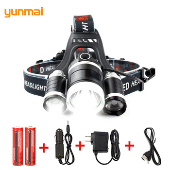 Hot Sale new T6 Headlight 10000 Lumens Powerful Focus Light Head Flashlight Rechargeable Waterproof Headlamp For Fishing Camp