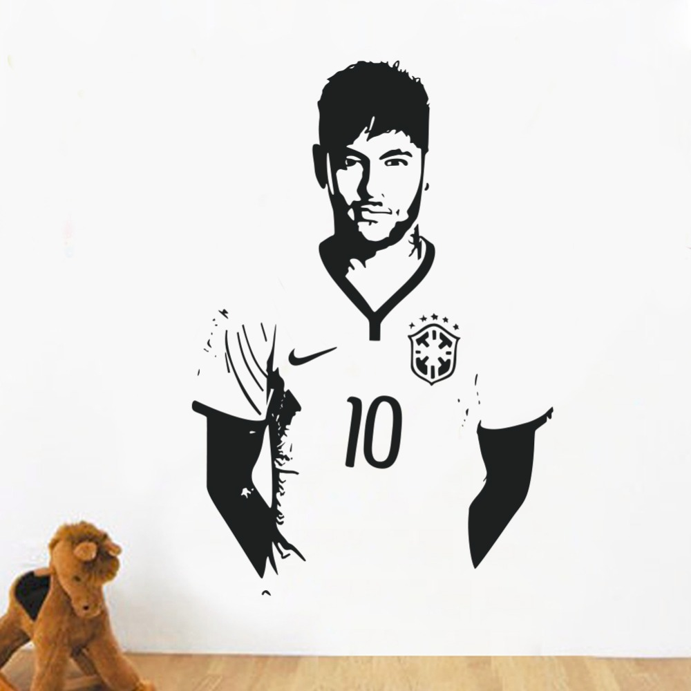 Home Decor Posters Sports Footballer Wall Stickers Pvc