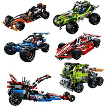 Assemble Sports Car Racing Technology Car Fit Deformation Compatible Legoinglys Building Blocks Model Toys For Children Gift(China)