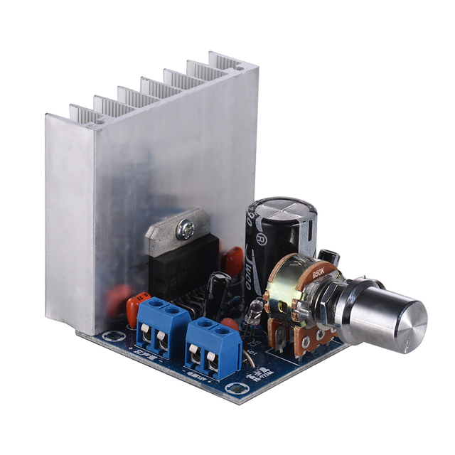 35W + 35W Audio Amplifier Module Stereo2.0 15W + 15W Dual-channel Amplifier Mini Amp Board Amplify DIY Circuit Board w/ Heatsink 1