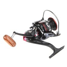 JHO-12+1BB Ball Bearings Left/Right Interchangeable Collapsible Handle Fishing Spinning Reel Roller LK5000 5.5:1(Black and red)