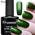 Vrenmol 1 unids Platino Brillo UV Gel Nail Art Polaco Vernis Semi Permanente de Larga Duración Shimmer Diamond LED/UV Gel