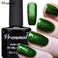 Vrenmol 1pcs Platinum Glitter UV Gel Nail Art Polish Vernis Semi Permanent Long Lasting Shimmer Diamond LED/UV Gel