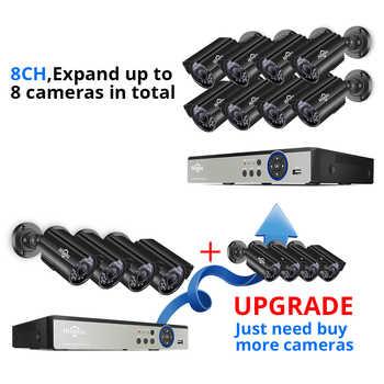 Hiseeu 8CH 5MP CCTV Camera System DVR 4PCS Outdoor Waterproof Security Camera Day/Night DIY Video Surveillance System Kit