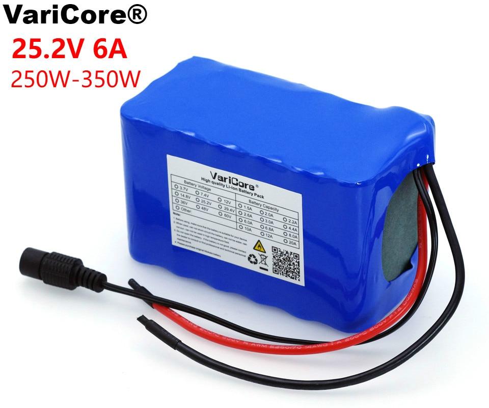 VariCore 24 V 6Ah 6S3P 18650 batterie 6000 mAh vélo électrique cyclomoteur/électrique/Li ion batterie avec Protection 25.2 v BMS