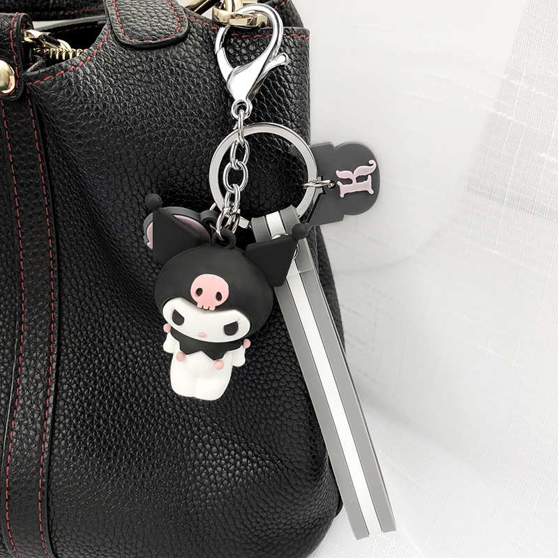 2019 New Beautiful Creative Cartoon Cute Silicone Penguin Car Key Ring Pendant Couple Bag Hanging Ornaments Student Small Gifts