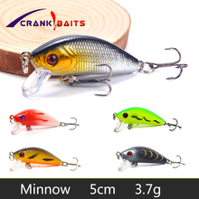 CRANK BAITS 1Pcs Topwater Minnow Hard Bait Artificial Japan Mini Crankbait 50mm 3.7g Carp Fishing Wobblers Lure YB204
